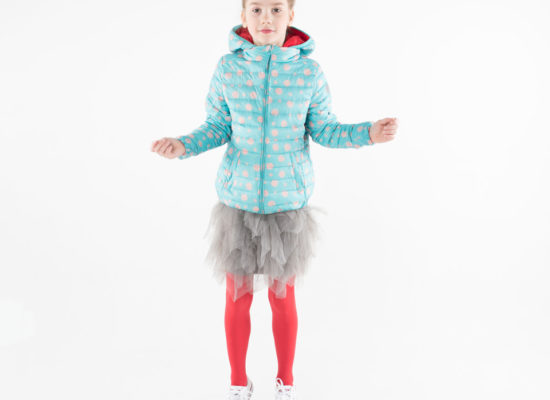 pengu-kids-light-blue-nude-dots-coloured-ultra-light-down-jacket-for-girls-for-spring-autumn-season-in-front