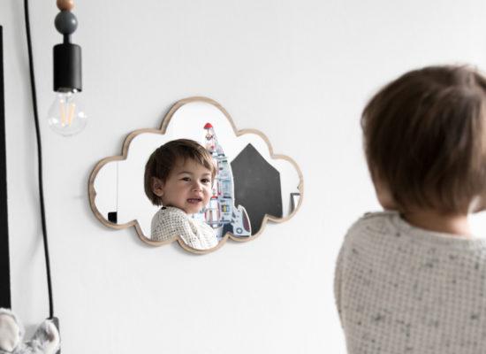 Cloud mirror wood19