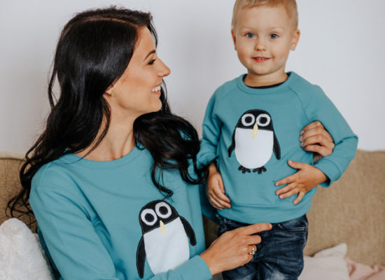 hilp ema ja poeg pingviini pusaga