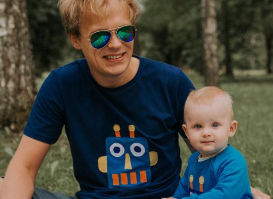 hilp isa ja poeg roboti t-särk