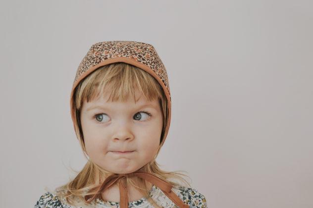 vintage floral bonnet